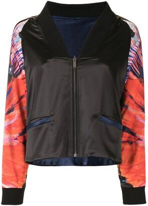 Lisa Von Tang Graphic-Print Zipped Bomber Jacket