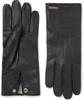 Burberry Cashmere-Lined Leather Gloves