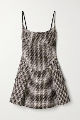 Alexander Wang Tweed Mini Dress - Black