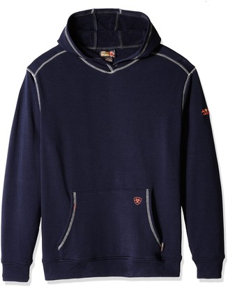 Ariat Men's Big and Tall Flame Resistant Polartec Hoodie Navy 3X-Large