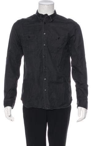 Pierre Balmain Chambray Button-Up Shirt