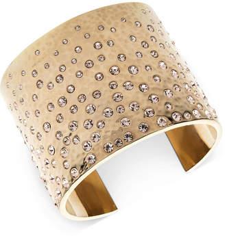 Givenchy Gold-Tone Pave Statement Cuff Bracelet