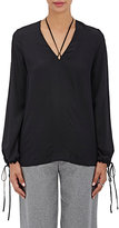 Robert Rodriguez Women's Silk Tie Blouse-Black