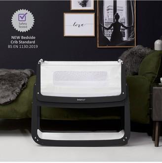 SnuzPod 4 Bedside Crib with Mattress - Slate