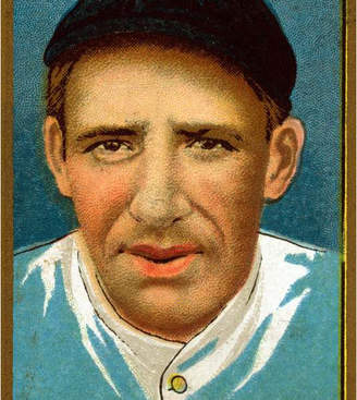 "Leon Lantern Press ""New York Giants, Ames, Baseball Card"" Print, 12""x18"""