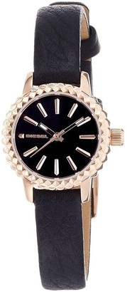 Diesel Women's 'Timeframe' Black Leather Watch