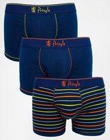 Pringle Trunks In 3 Pack - Blue