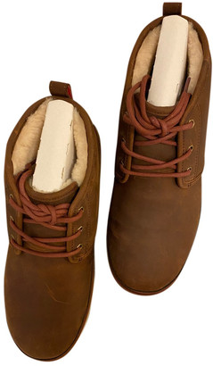 UGG Burgundy Leather Boots