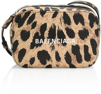 Balenciaga Extra-Small Everyday Leopard-Print Leather Camera Bag