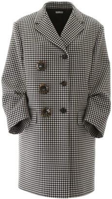 Miu Miu Houndstooth Button Detail Coat