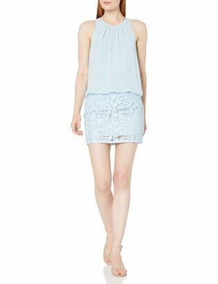 Aidan Mattox Aidan Women's Sleeveless Halter Blouson Dress with Skirt and Top