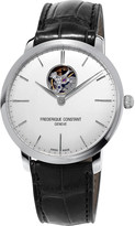 Frederique Constant FC-312S4S6 Slimline stainless steel and leather watch