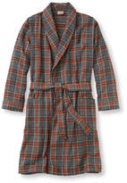 L.L. Bean Men's Scotch Plaid Flannel Robe