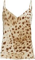 L'Agence Jane Leopard Print Silk Camisole