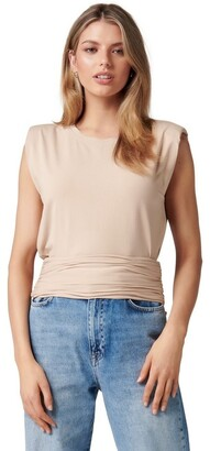 Forever New Astrid Clinched Waist Tank Lt