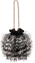 Matthew Williamson Ostrich Feather Black Bag