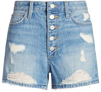 Joe's Jeans Kinsley Distressed Denim Shorts