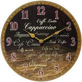 Infinity Instruments Morning Brew Clock, Brown