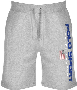 Ralph Lauren Polo Logo Sweat Shorts Grey