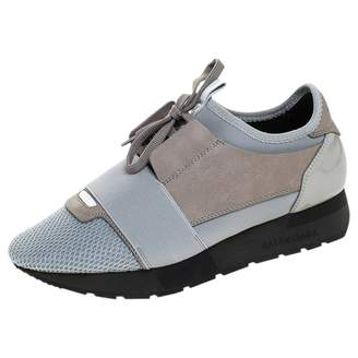 Balenciaga Race Grey Leather Trainers