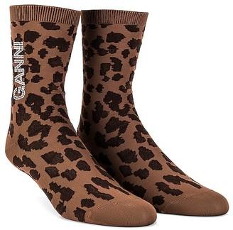 Ganni Leopard Socks