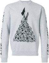 McQ by Alexander McQueen bunny motif sweater - men - Cotton - XS