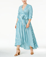 Melissa McCarthy Trendy Plus Size Faux-Wrap Maxi Dress