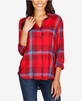 Lucky Brand Plaid High-Low Shirt