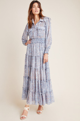 MISA Casimir Tiered Maxi Dress By in Assorted Size XS