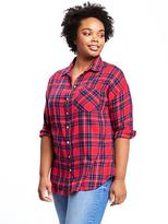 Old Navy Plaid Plus-Size Boyfriend Shirt
