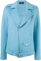 Theory felt biker jacket - women - Cashmere/Wool - S