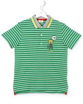Fendi striped polo shirt - kids - Cotton - 14 yrs