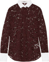 Valentino Broderie anglaise cotton-blend shirt