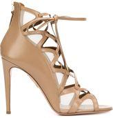 Aquazzura laced stiletto sandals