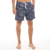 Kangaroo Poo Mens Printed Swim Shorts Navy/White