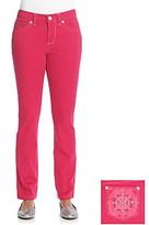 Nine West Vintage America Vintage Jeans Isis Berry Embellished Straight Leg Jean