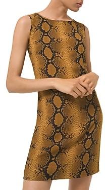 MICHAEL Michael Kors Python Print Silk Sheath Dress