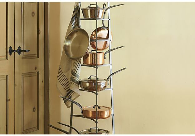 Crate & Barrel Enclume ® Standing 8-Tier Pot Rack