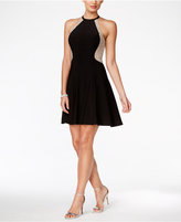 Xscape Evenings Embellished Halter Fit & Flare Dress