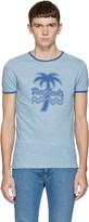 Marc Jacobs Blue Palm Tree Ringer T-Shirt