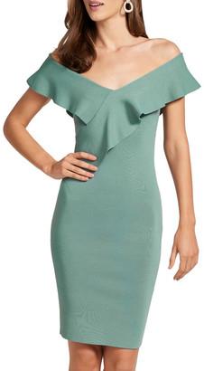 Forever New Sharna Frill Bardot Knit Dress