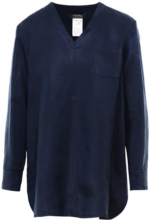 'S Max Mara V-Neck Tunic Shirt