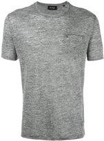 The Kooples patch pocket T-shirt - men - Linen/Flax - XS