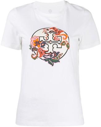 Tory Burch logo paisley print T-shirt