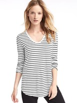 Gap Scoop neck stripe long sleeve tee