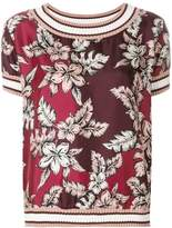 Moncler short-sleeve floral blouse