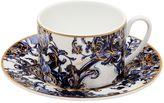 Roberto Cavalli Azulejos Set Of 6 Tea Cups & Saucers