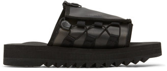 Suicoke Fumito Ganryu Black Edition Silicon Slip-On Sandals