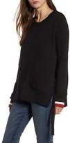 Pam & Gela Women's Side Slit Sweatshirt