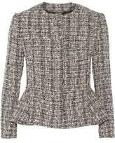 Alexander McQueen Cotton And Wool-Blend Tweed Peplum Jacket